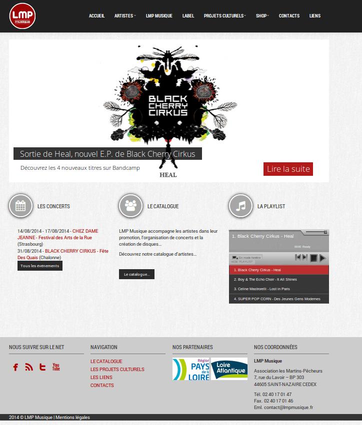LMP Musique Page d'accueil