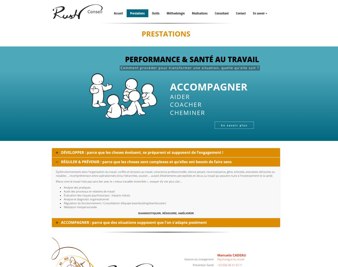 Rush conseil - Page Prestations