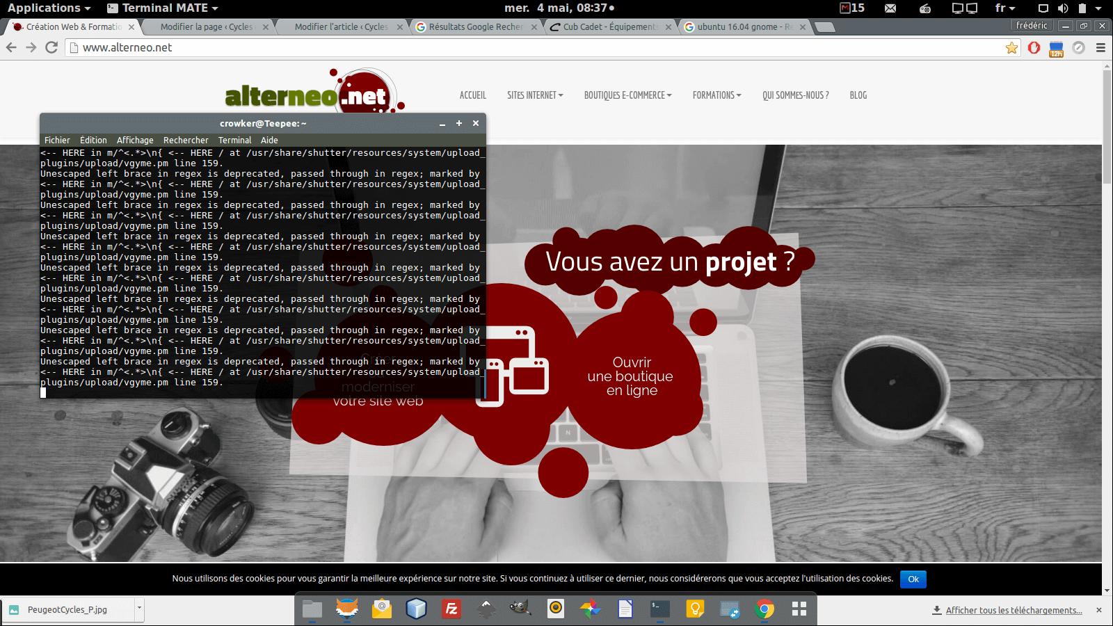 Mon écran Ubuntu